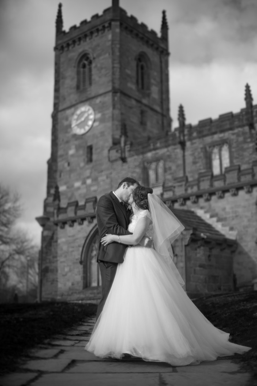 The first kiss by playingwithlight - All About The Wedding Photo Contest