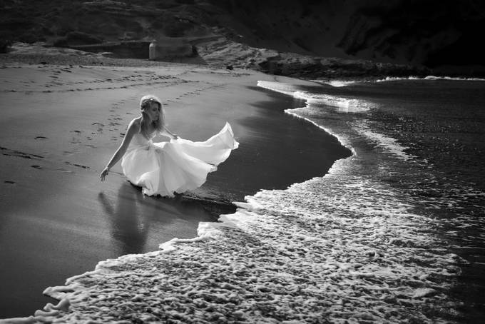 A beach and the bride by arturtkaczyk - All About The Wedding Photo Contest
