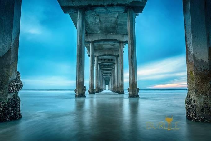 la-jolla-scripps-pier by matthewburlile - The Blue Color Photo Contest 2018