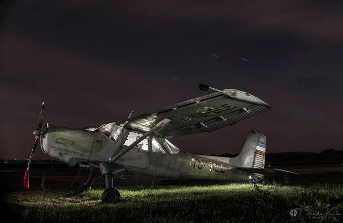 Old plane at night, Slovenia by Kelc33 - Image Of The Month Photo Contest Vol 37