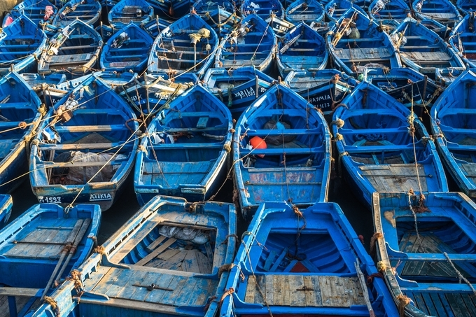 BB : Blue Boats in Essaouira by Inesita - The Blue Color Photo Contest 2018