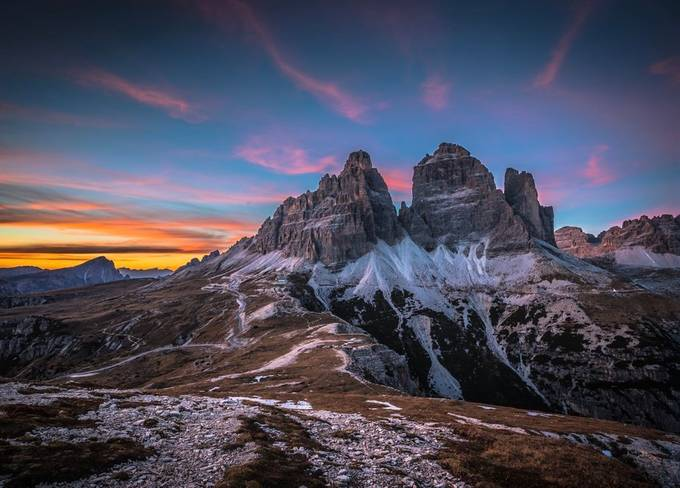 Sunset at Tre Cime by lddove - Covers Photo Contest Vol 51