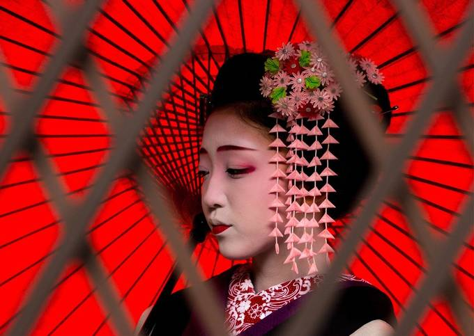 Geisha in training. by Shazakin - Image Of The Month Photo Contest Vol 43