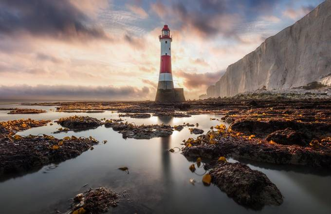 Beachy Head Lighthouse.  by Richard-Beresford-Harris - Image Of The Month Photo Contest Vol 43