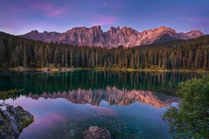 Sunrise at Lago di Carezza by alex_lauterbach - My Best New Shot Photo Contest