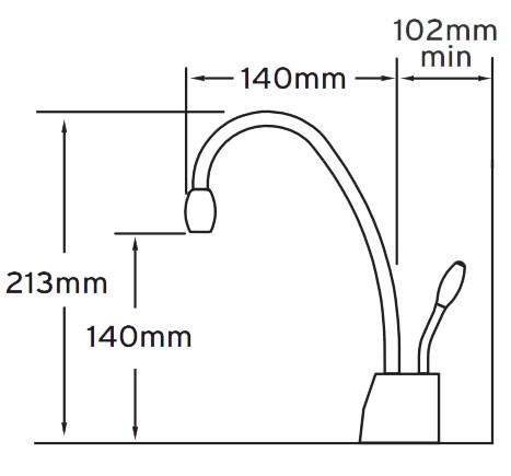 InSinkErator GN1100C Instant Hot Water Tap Complete Kit
