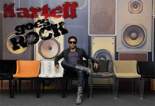 Kartell goes Rock με τους Lenny Kravitz και Philippe Starck