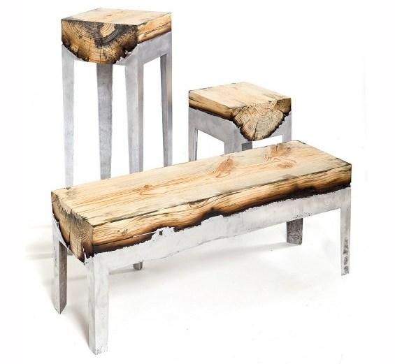 Με αλουμίνιο και ξύλο