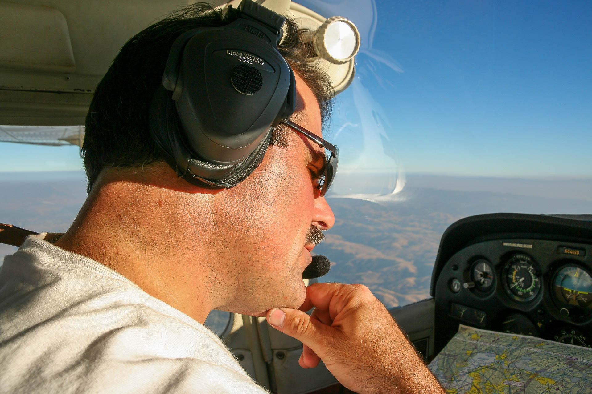 unser Pilot der Brad :-)