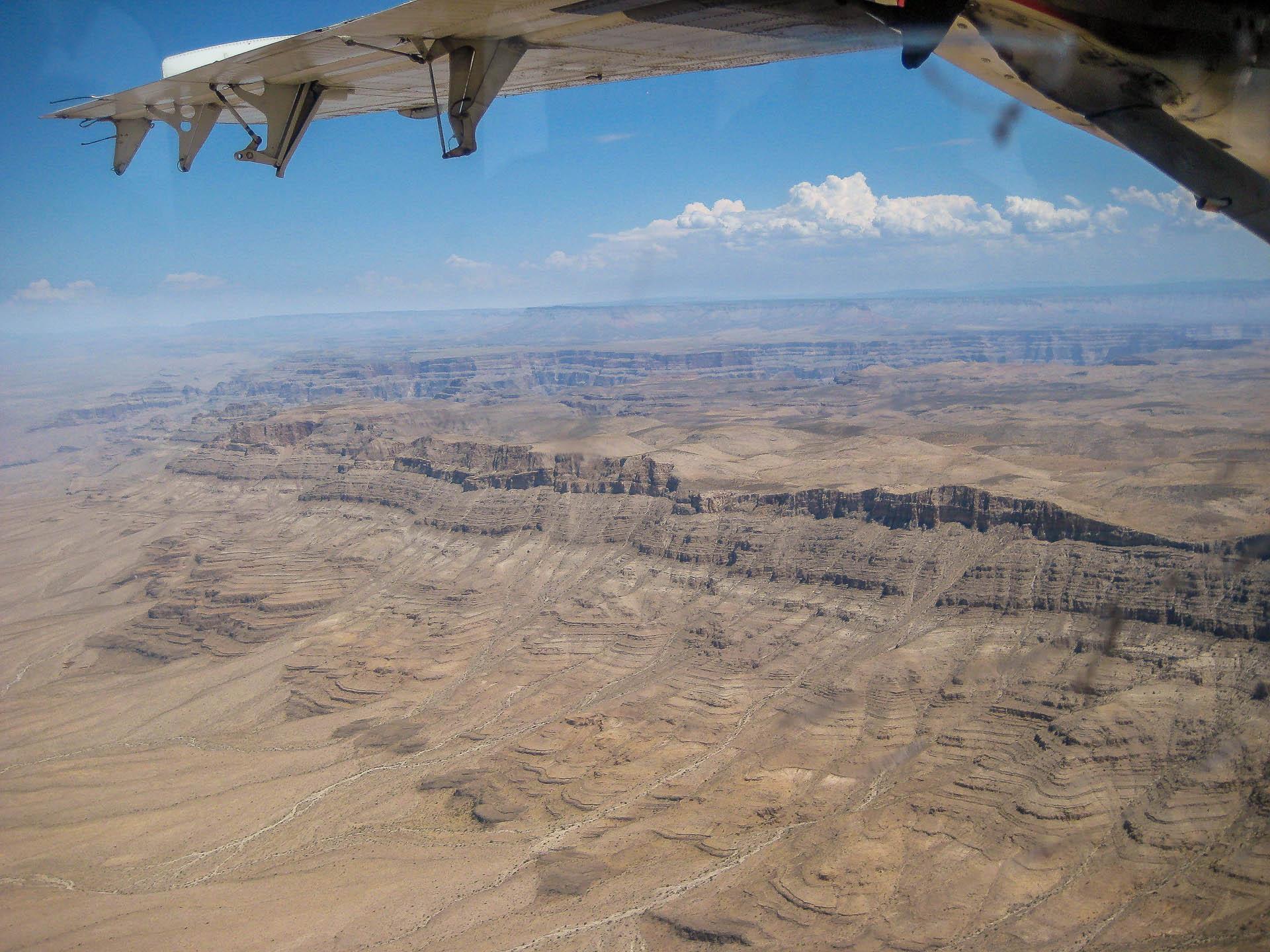 Anflug zum Grand Canyon
