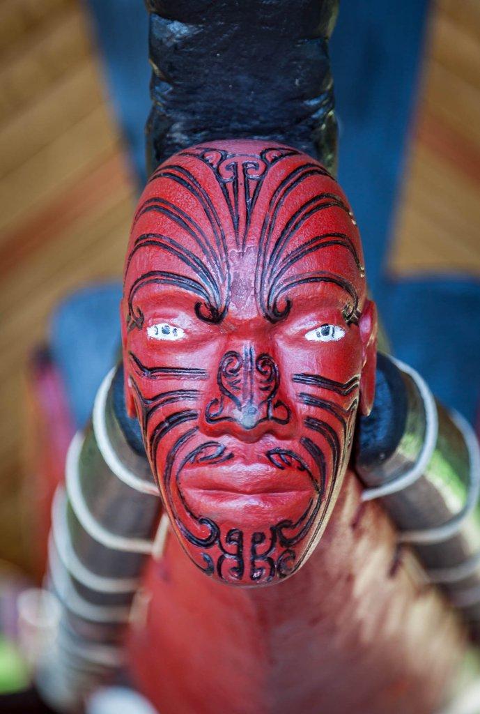 Waitangi – Face on a Waka