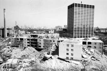 View of Stateway demolition