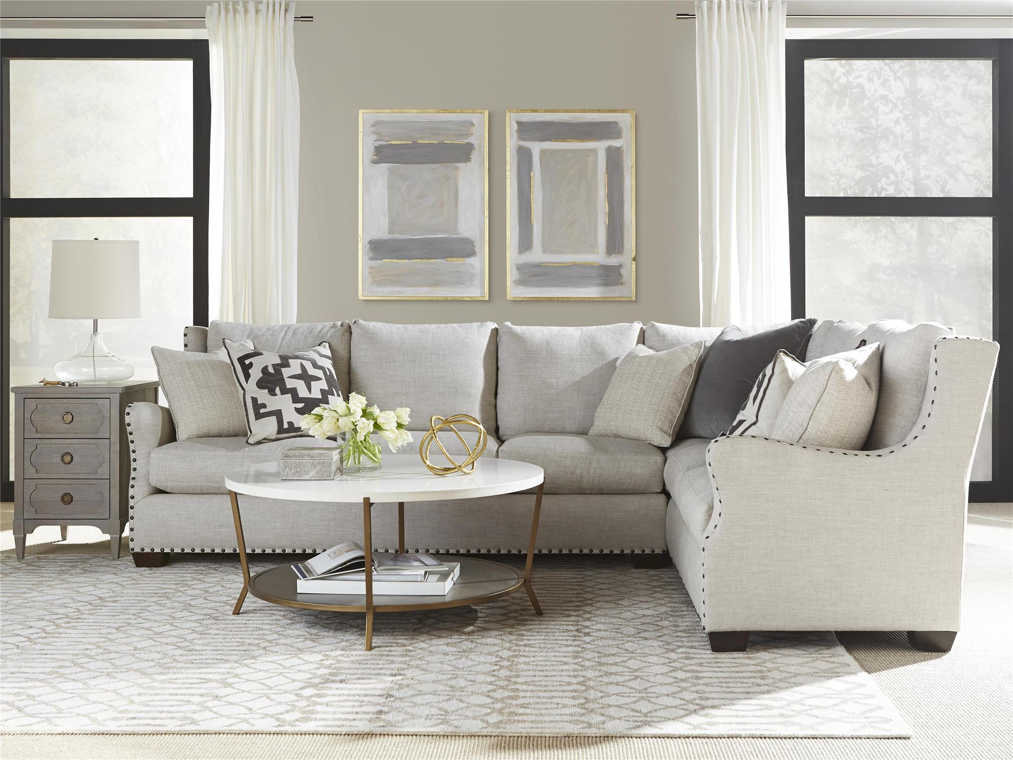 Universal Furniture  Curated  Connor Sectional Left Arm