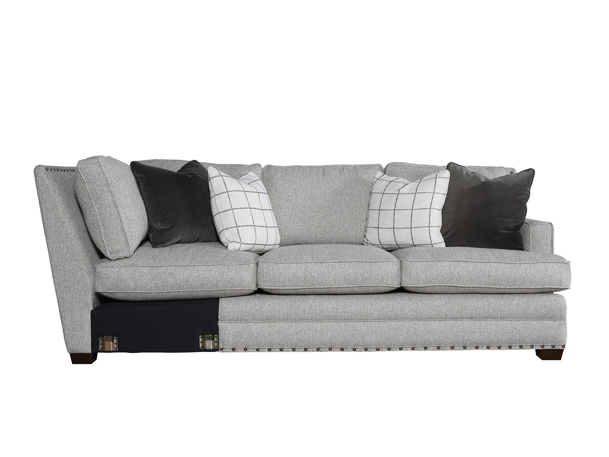 left arm sofa sectional jennifer sofas pasadena universal furniture curated riley