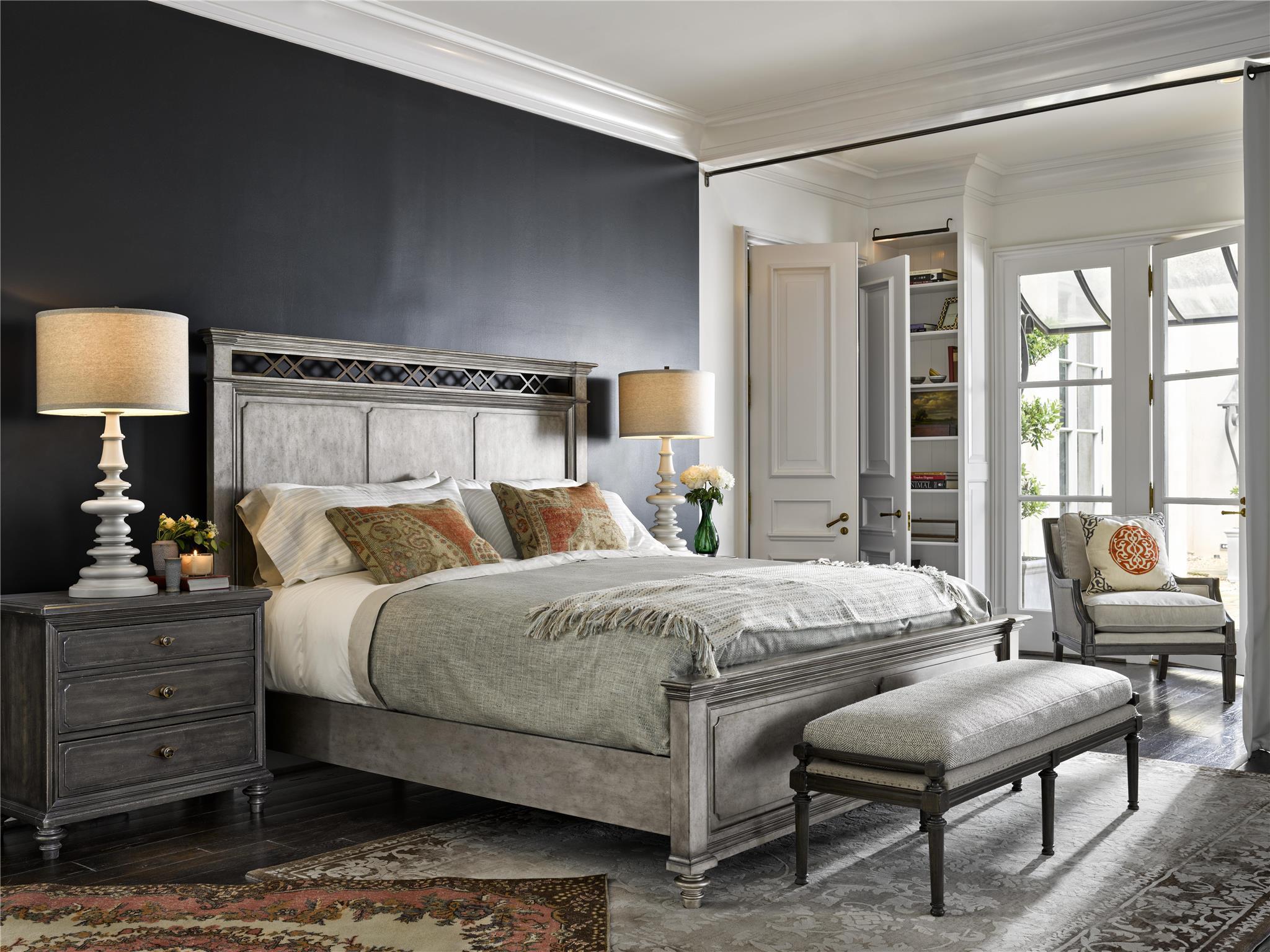 Universal Furniture  Postscript  Cable Knit Bed Set King 66