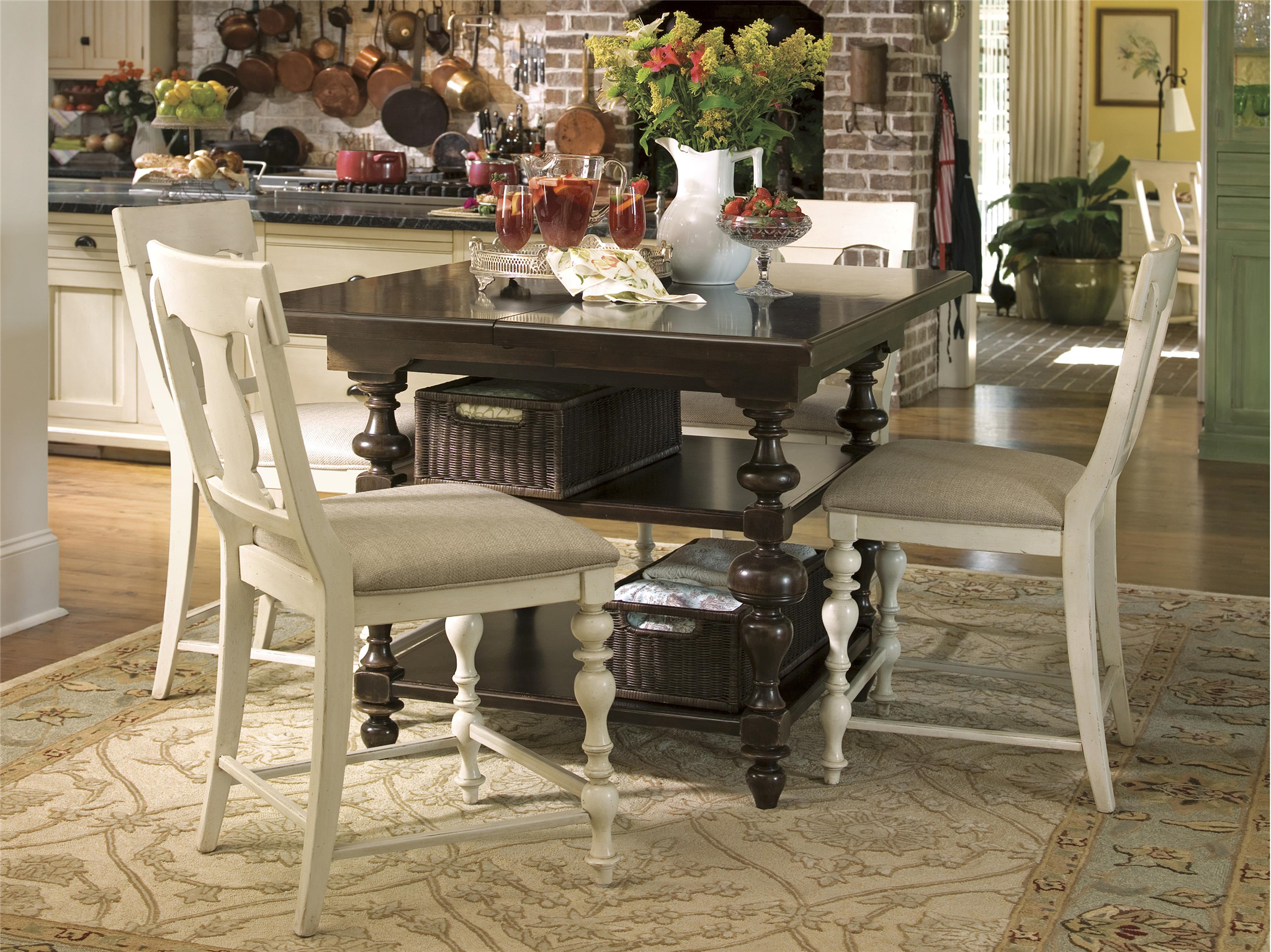 paula deen table and chairs reclining massage chair universal furniture home counter height