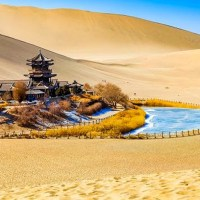 The Gobi Desert Around Dunhuang Grottoes