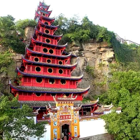 A Nine Storey Pagoda in a Taoist Temple