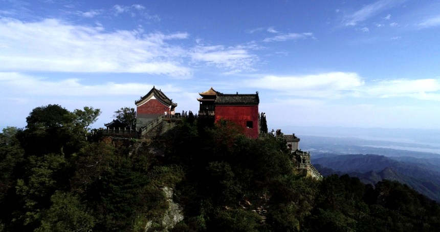 A Taoist temple on the top of Mt. Wudang