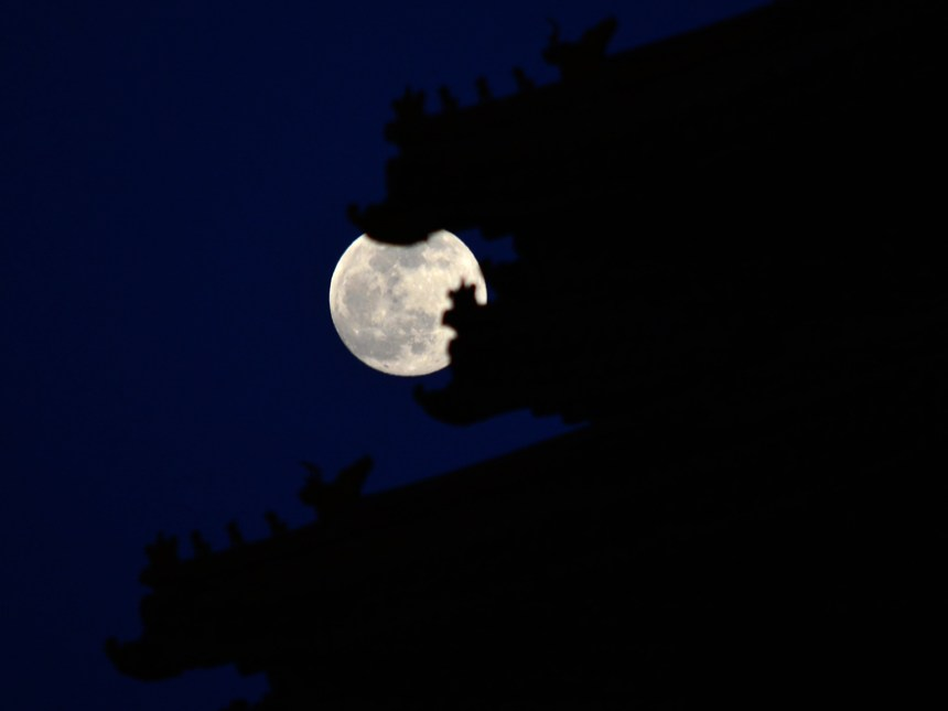 Full moon night over Forbidden City - To be swallowed