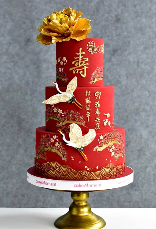 Brilliant Chinese Cakes All Things Chinese Birthday Cards Printable Nowaargucafe Filternl