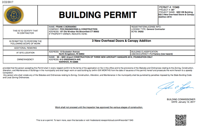 ViewPoint Cloud online building permit