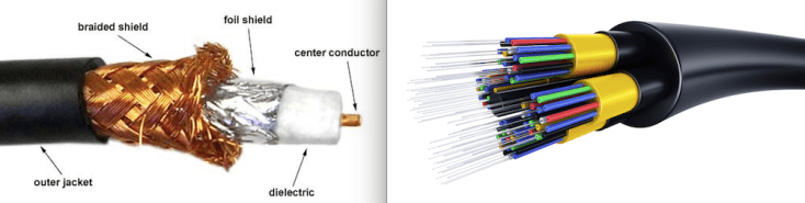 Coaxial vs. fiber optic cable - internet access types