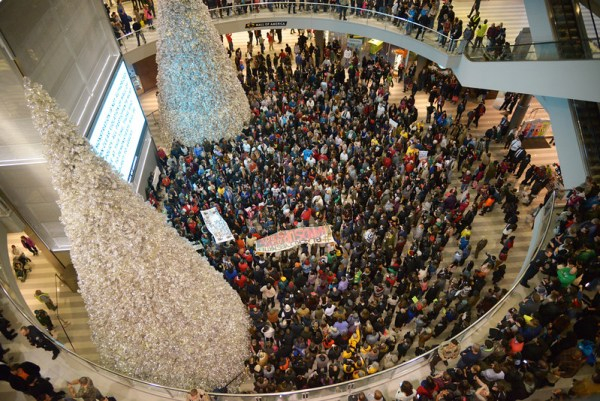 Black Lives Matter demonstration at the Mall of America.