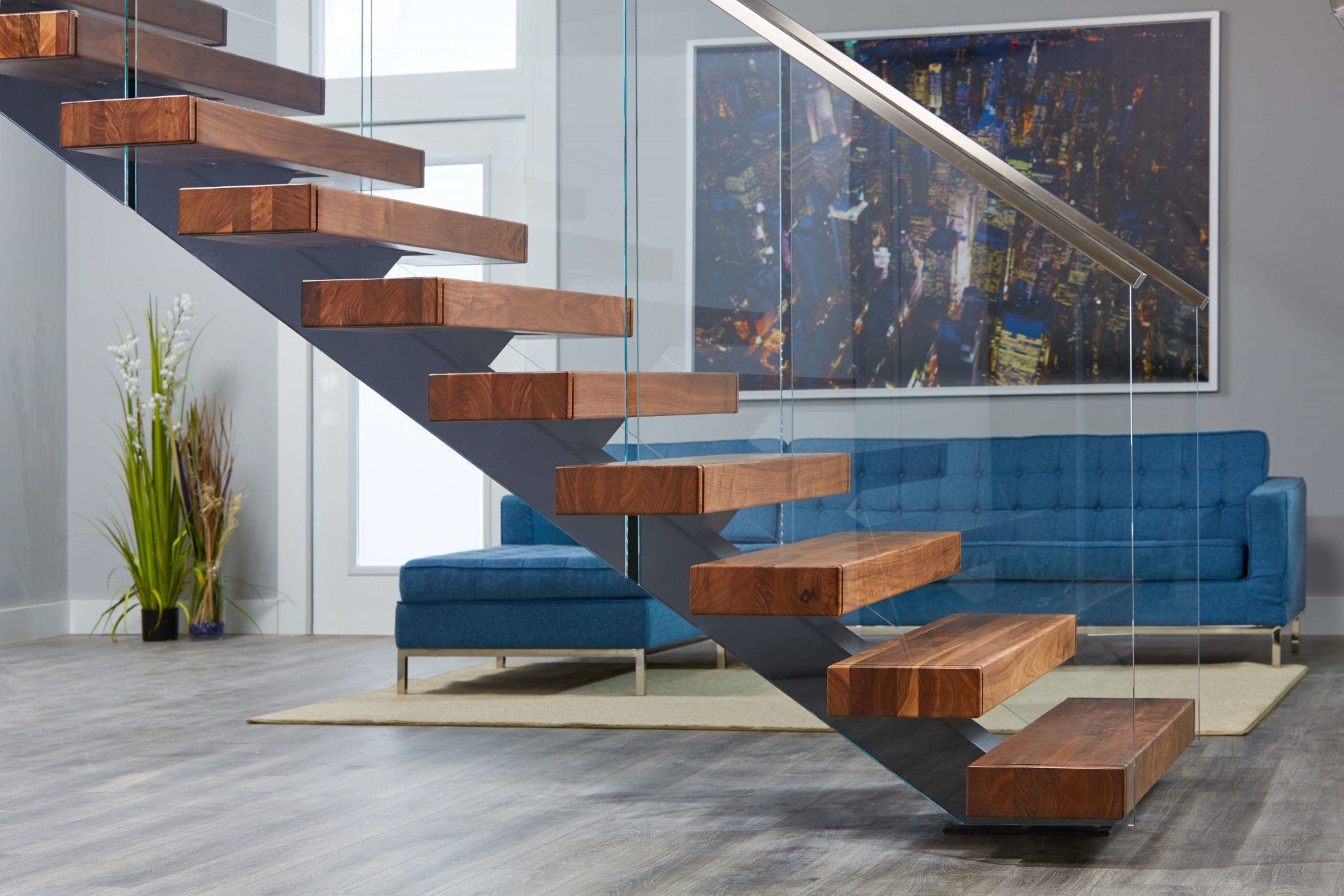 Viewrail Floating Stairs And Modern Railing For Stairs | Wood And Stairs Ltd | Steel | Stair Railing | Baluster | Spindles | K Len