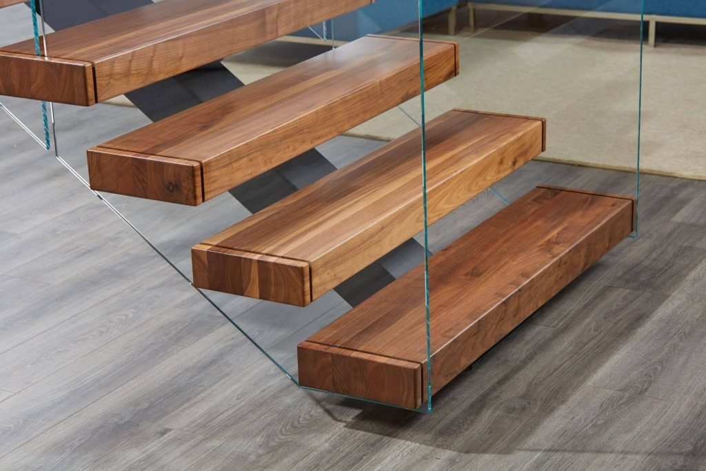 Glass Railing Cost Guide To Frameless And Framed Systems Viewrail | Wooden Stair Railing With Glass | Custom | Balcony Wooden | Detail | Oak | Wood Treads