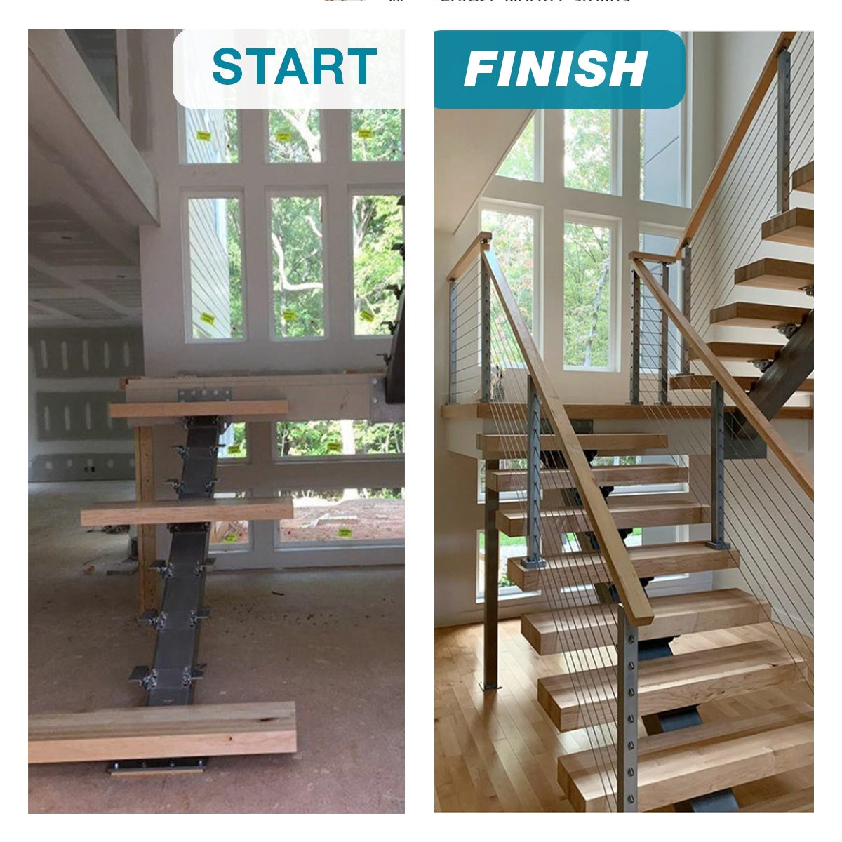 What S The Difference Between Open Riser Stairs A Mono Stringer | Double L Shaped Staircase Design | Limited Space | Space Saving Stair | Inner Staircase | Traditional | 90 Degree