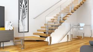 Glass Railing Design Help Form Viewrail | Stair Railing Design Glass | Basement Stairs | Modern Staircase | Stair Treads | Oak Staircase | Stainless Steel Railing