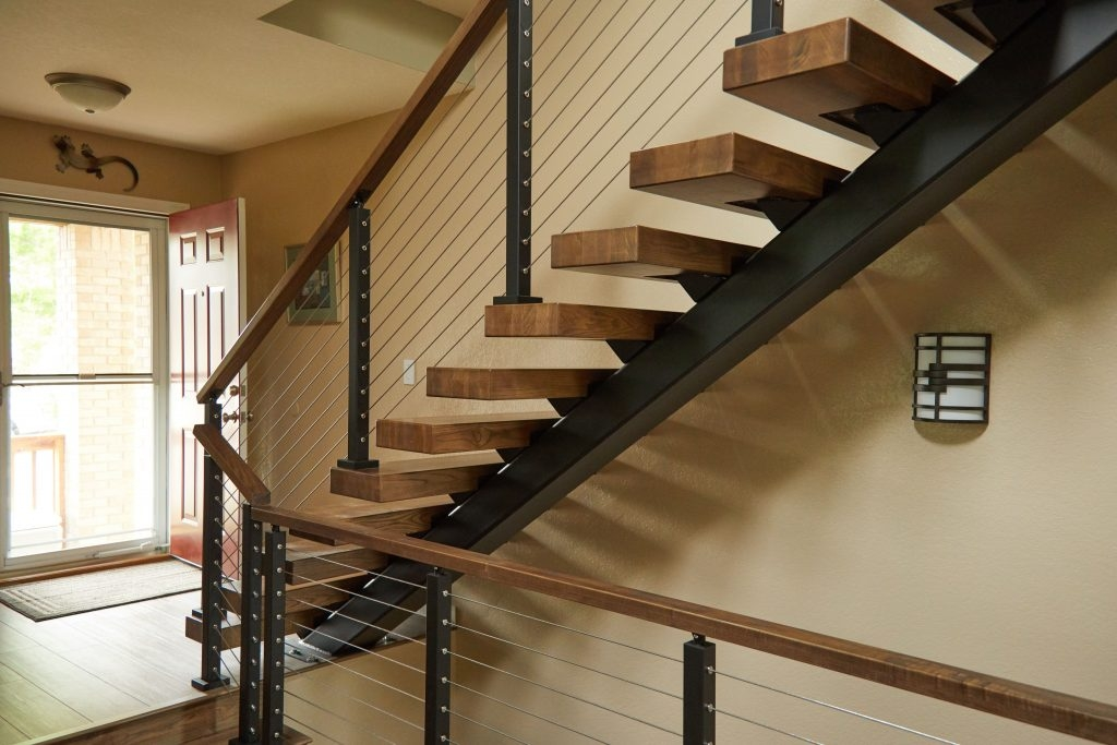 How Much Do Floating Stairs Cost Viewrail | Bannister Rails For Stairs | Pipe | Build Stair | Deck | Outdoor | 5 Step