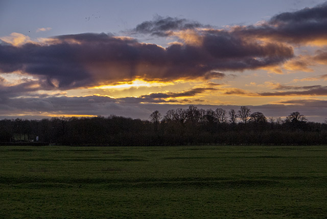Golden Rays - Sunset in the Ouse Valley, Milton Keynes