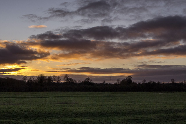 Last Vestiges of Sunset in the Ouse Valley, Milton Keynes on New Years Day