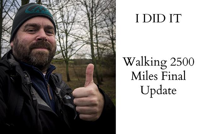 Walking 2500 Miles in 2017 Final Update