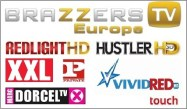 redlight hd, hustler hd, brazzers tv, XXL, Private TV, Vivid Red & Dorcel TV.