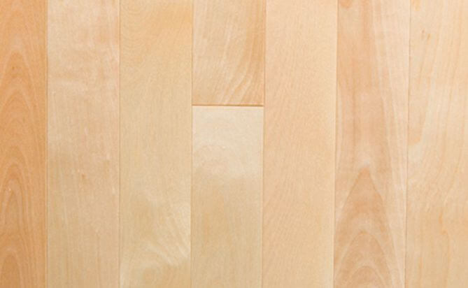 18mm Natural Solid Birch Flooring BR003