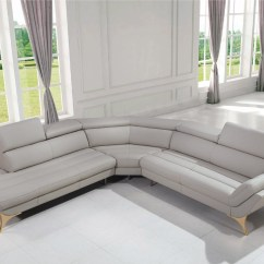 Sofa 4 Seater Room And Board Sleeper Sofas Divani Casa Graphite Modern Grey Leather Sectional