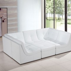 Casa Italy Sofa Bed Seafoam Green Divani 207 Modern White Bonded Leather Sectional