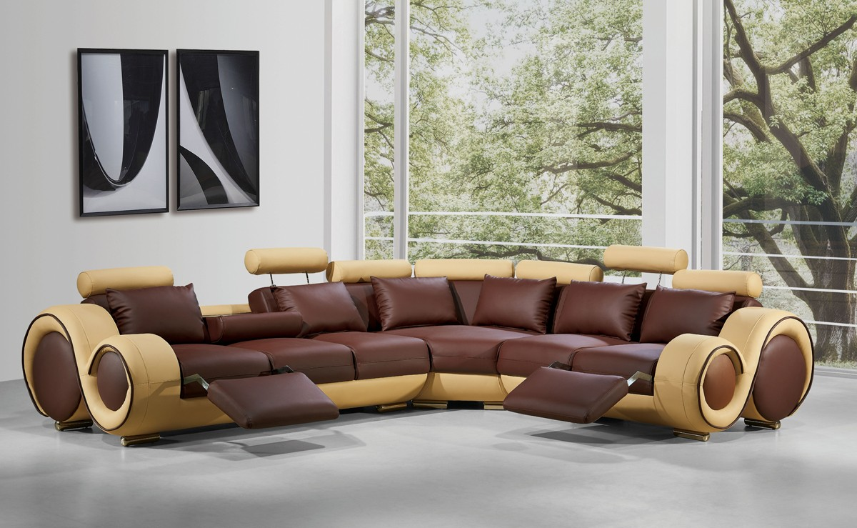 Divani Casa 4087  Modern Bonded Leather Sectional Sofa