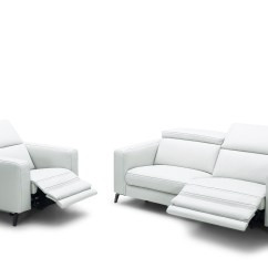 Italian Leather Recliner Sofa Set Mickey Mouse Flip Out Divani Casa Roslyn Modern White W ...