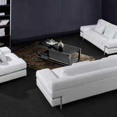 Huge Italian White Leather Modern Sectional Sofa Set How To Clean Linen Cotton Divani Casa Clef
