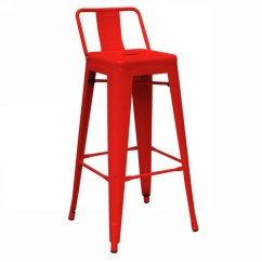 Stool Chair Red Office Ergonomic Dink Modern Metal Counter Set Of 2 Bar