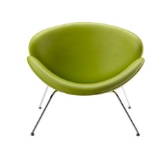 Lime Green Chairs For Sale Fishing Chair Modrest Anais Contemporary Leatherette Accent