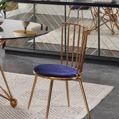 Gold Dining Chairs Tommy Bahama Relax Chair Brenna Modern Blue And Set Of 2