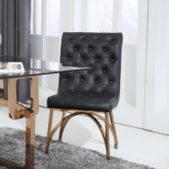 Modern Black Chair Set Universal Covers Modrest Rosie And Rosegold Dining Of 2