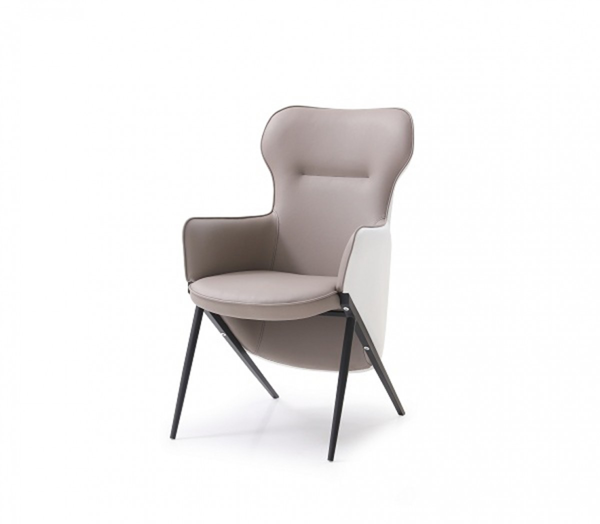 white leather accent chair modern best stadium modrest coreen and brown bonded