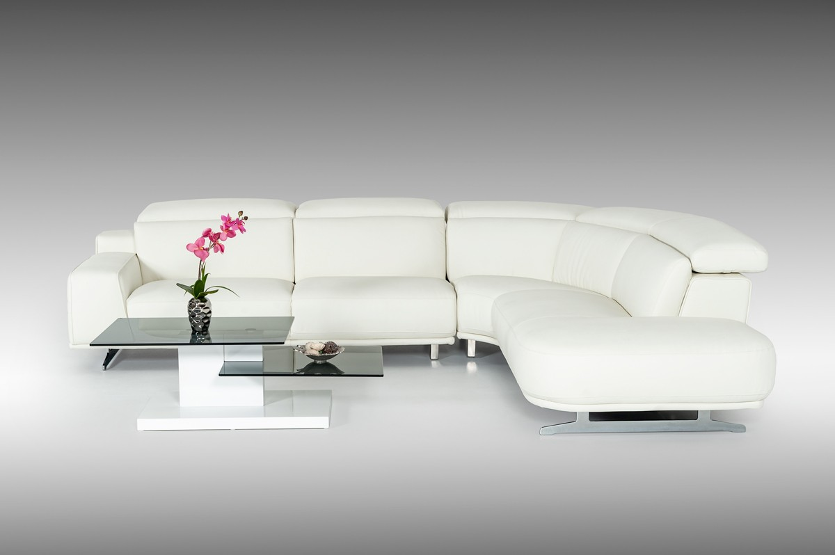 leatherette vs fabric sofa modern divani casa benson white sectional
