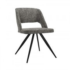 Modern Gray Dining Chairs Wood Desk Palmer Grey Fabric Chair Set Of 2